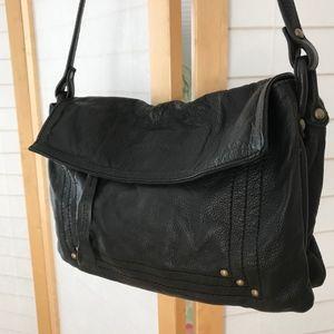 Paul & Joe's Sister black leather shoulder bag